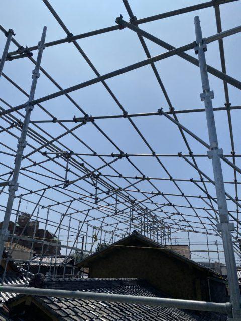 東淀川区 素屋根工事